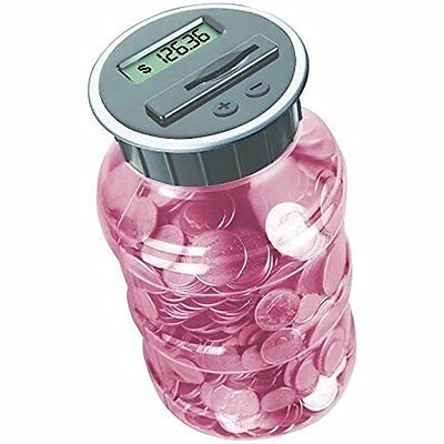 Digital Coin Bank Savings Jar - Automatic Counter Totals All U.S. Coins
