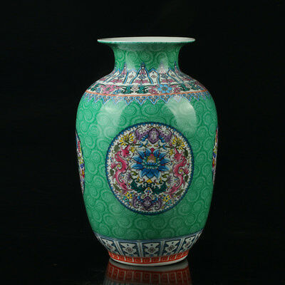 Chinese Porcelain Hand-Painted Flower Vase Mark As The Qianlong Period R1016/