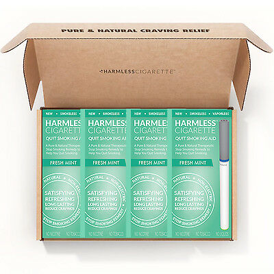 Harmless Cigarette Kit To Help You Stop Smoking + FREE Support Guide (4 Pack)