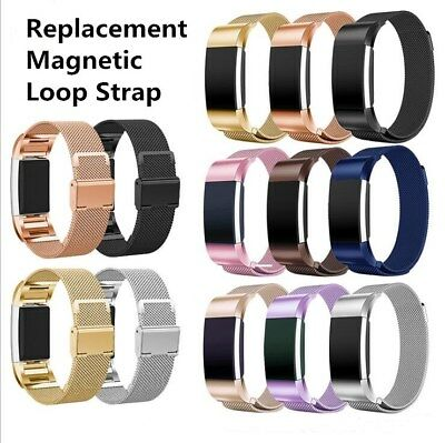 For Fitbit Charge 2 Strap Stainless Steel Wrist Bands Metal Replacement Magnetic