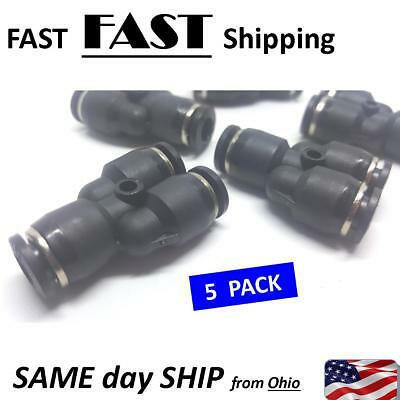 "1/4"" ""T"" fitting pneumatic air line push connector - 0.25"" T part fitting 1 to 2"