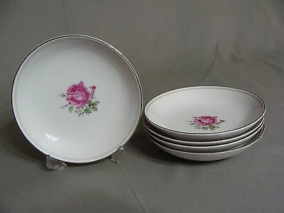 5 Fine China Of Japan Fruit/Dessert Bowls In The Imperial Rose #6702 Pattern