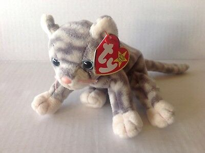 Ty Beanie Baby Silver the cat NWMT