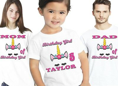 Magical Unicorn Birthday T Shirt Shirts Family Custom Name Number Supplies Decor