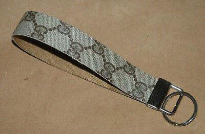 New Repurposed Upcyled Handcrafted GUCCI Logo Key Chain Wristlet
