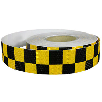 1M Reflective Safety Warning Conspicuity Tape Sticker, Black+yellow G1I2