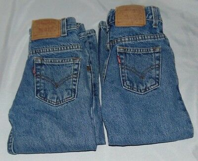 2 pair Boys LEVIS 550 Relaxed Fit 100% Cotton JEANS Size 5
