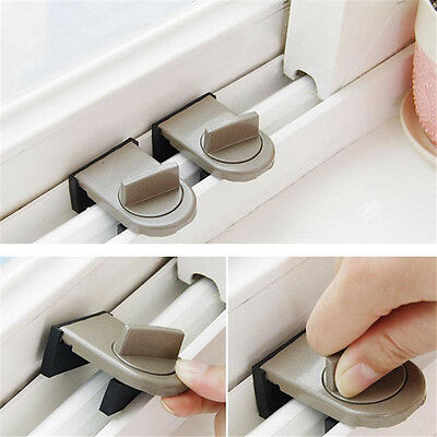 Security Sliding Door Window Lock Safety Lock Sliding SashStopper For Kid BabyHV