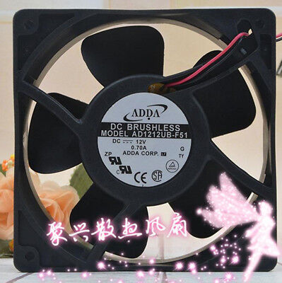 1PC ADDA AD1212UB-F51 12V 0.70A 12038 12CM 2-wire chassis cooling fan