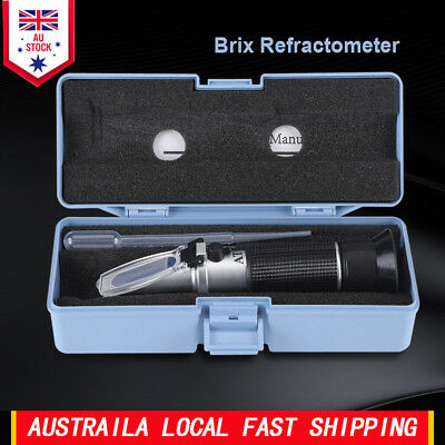 0~32% Brix Refractometer Honey Beer Fruit Juice Sugar Measuring Tester Meter AU