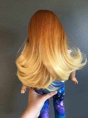 Beautifully Custom Harmony Wig Colour Rising Sun Wig Size 11 (For American Girl)