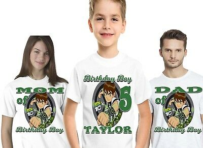 Ben 10 Birthday Party Supplies Shirt T Tshirt Personalized Gift Custom