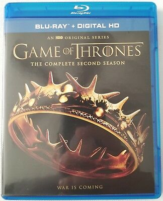 Game Of Thrones: The Complete Second Season Blu Ray 5 Disc Set Free Shipping