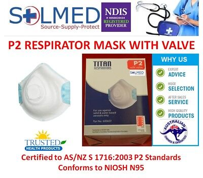 10 X Pieces Face Dust Mist Aerosol Mask P2 Quality Valved Respirator Masks