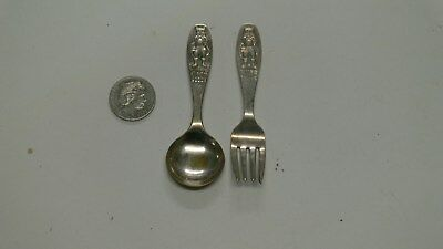 Vintage Puss In Boots Infant Baby Cutlery Rodd EPNS Fork and Spoon