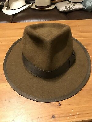 Staker Custom Fedora In Whiskey (brown) Size 7 5/8 Or 61