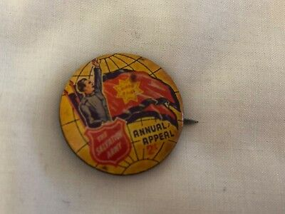 The Salvation Army Annual Appeal 2/-tin pin badge possibly from the 1940s