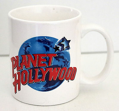 Planet Hollywood Souvenir Cup, Mug, NEW, Ceramic, White, Red, Collectible
