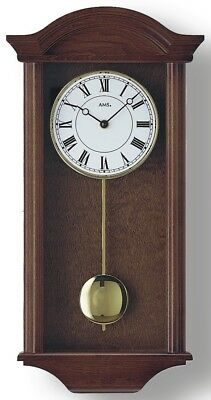Modern wall clock with quartz movement from AMS AM W990/1 NEW