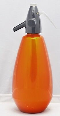 Vintage Orange Anodised Aluminium Soda Siphon Syphon