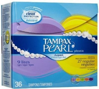 Tampax Pearl Active Reg Unscented 36ct