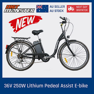 New Black 250W Electric Bike 36V Ebike Urban Scooter City Lithium Ion Bicycle