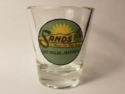 2 inch Tall Sands Las Vegas Nevada Casino Shot Glass In MINT Condition