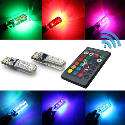 2x 12v multicolor auto 6 led lamp infrared 24 keys car remote control w battery