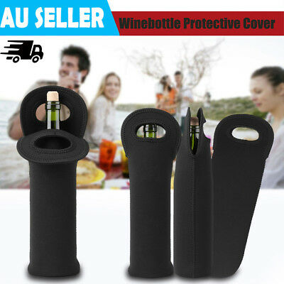 3Pcs Single Wine Bottle Holder Single Neoprene Beer Can Cooler Bag Carrier Tool