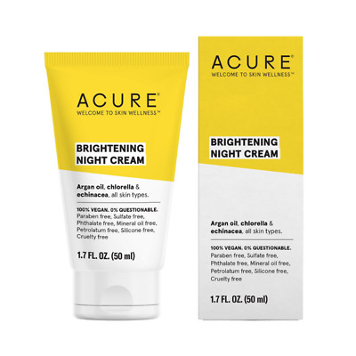 Acure Brilliantly Brightening Natural Night Cream For All Skin Types 50 ml