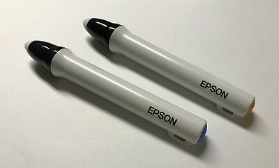 Epson Easy Interactive Pen ELPPN03B Blue and  ELPPN03A Orange