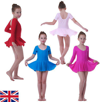 Children's Ballet Dress Leotard with Skirt Dance Costumes Tutu Outfit for Girls