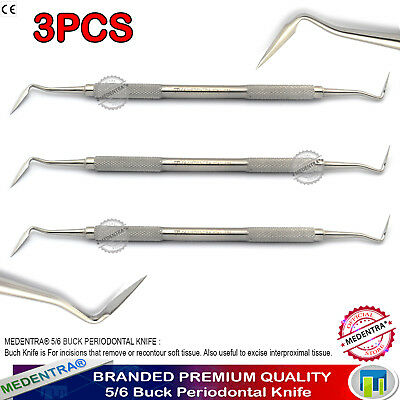 Dental Buck Knife 5/6 Periodontal Knives Remove / Recontour Soft Tissue Surgical