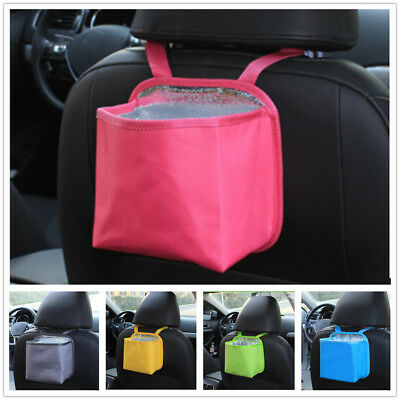 Auto Car Trash Can Litter Garbage Bin Wastebasket Storage Holder Organizer