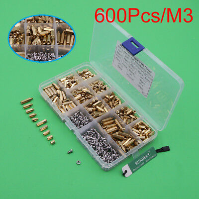 600x m3 steel brass spacers standoff circuit board pcb nut screws rh picclick co uk Circuit Board Standoffs Nylon Circuit Board Brass Standoff