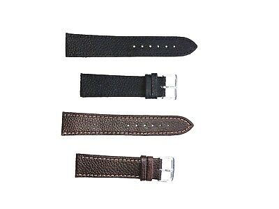 High Quality Mens Genuine Soft Leather Watch Band Strap 18mm-22mm Black/Brown