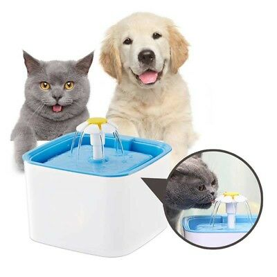 2.5L Electric Automatic Water Fountain Dog Cat Drinking Bowl Waterfall Feeder