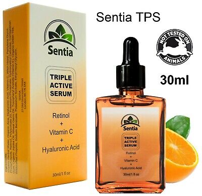 Best Retinol 2.5% Face Serum + Vitamin C 20% & Hyaluronic Acid. Anti Ageing Skin