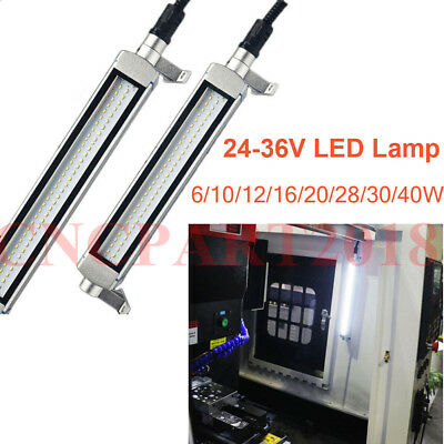 6W-40W CNC Machine LED Work Light 24-36V Milling Lathe Drilling Lamp Light White