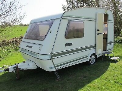 compass omega 360/2 two berth caravan with full awning