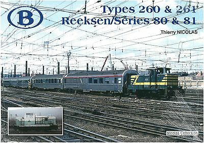 NicolasCollection 978-2-930748-56-6 BUCH SNCB NMBS Type260&261 Série80&81 NeuOVP