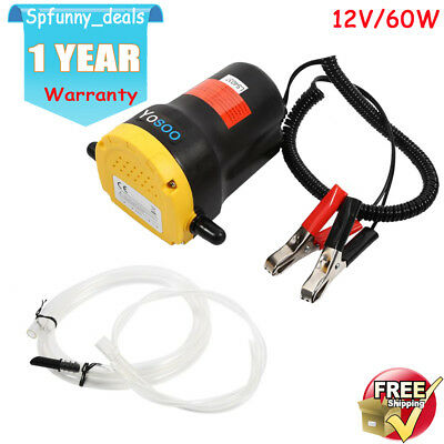 12V 60W Mini Electric Transfer Extractor Oil Fluid Diesel Pump Self-priming UK