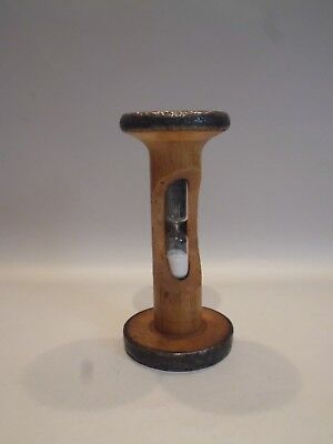 Vintage Early 20Th Century Industrial Mill Bobbin/cotton  Reel Egg Timer
