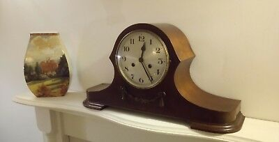 Large Edwardian Chime Napoleon Hat Mantle Clock In Good Condition