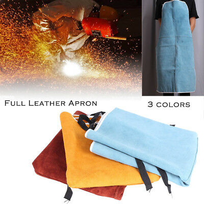 Welding Fire Heat Protect Apron Welder Toughness Two Layer Cow Leather 60x90cm