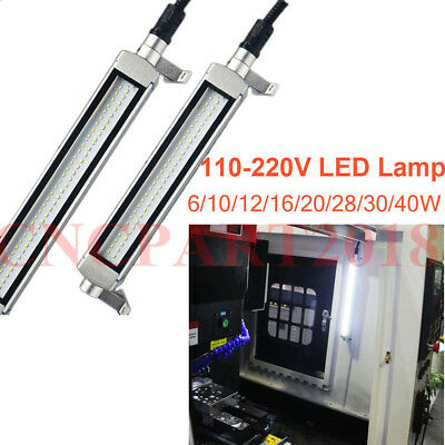 White CNC Machine LED Lamp Waterproof 110-220V Work Light 6/10/12/16/20/30/40W