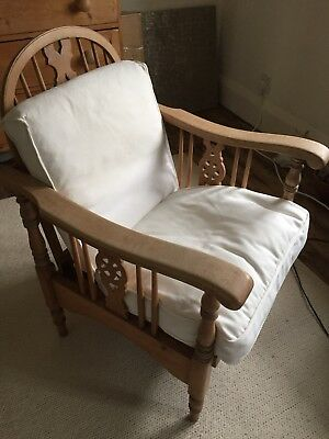Victorian Pine  Small Easy Chair
