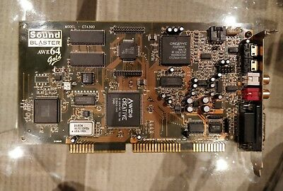 Creative Sound Blaster AWE64 Gold CT4390 ISA card - tested