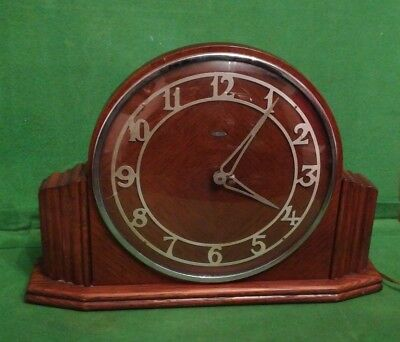 Vintage Metamec Electric Oak Case Mantle Clock - Spares/Repairs