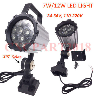 7W/12W LED Light for Milling Lathe Router Machine CNC Industrial Work Lighting